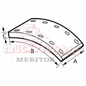 Накладки тормозные Ror LM / 419*178 / номинал=22,00 / Axle